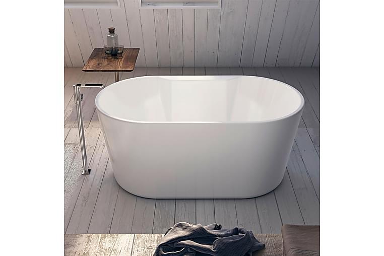 Bathlife Hipp Badekar 141 cm Ovalt Frittstående - Hvit - Baderom - Badekar - Frittstående badekar