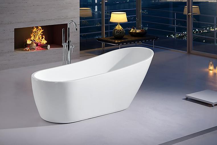 Ideal Design Badekar Bathlife - Frittstående - Baderom - Badekar - Frittstående badekar