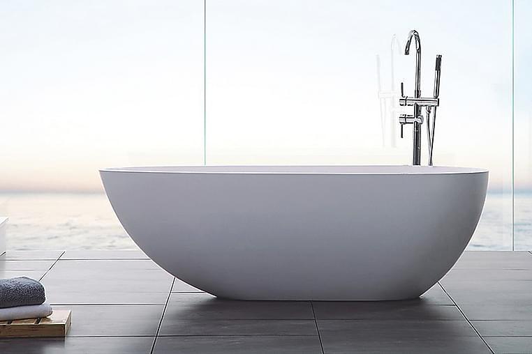 Ideal Design Badekar Bathlife Støpemarmor - 150 cm - Baderom - Badekar - Frittstående badekar