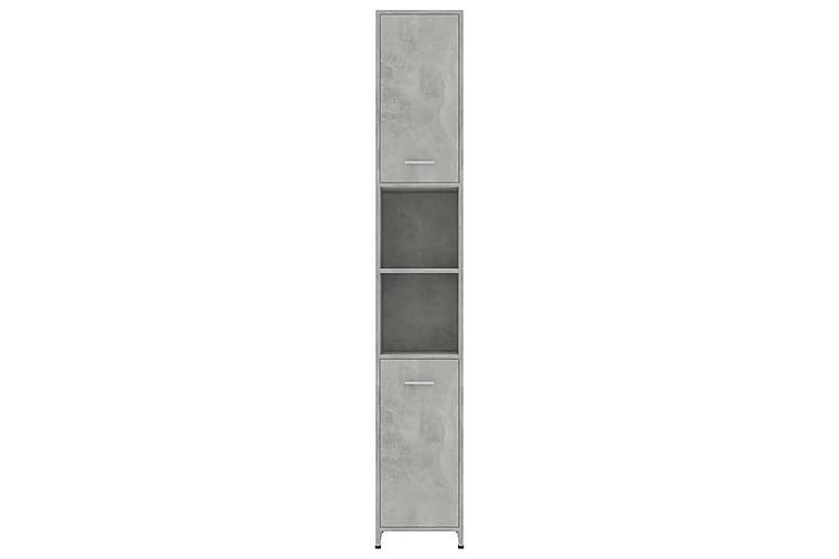 Baderomsskap betonggrå 30x30x183,5 cm sponplate - Grå - Baderom - Baderomsmøbler - Baderomsskap