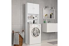 Vaskemaskinskap hvit 64x25,5x190 cm sponplate