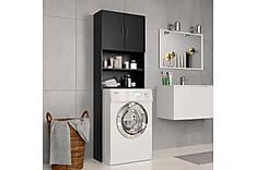 Vaskemaskinskap svart 64x25,5x190 cm sponplate