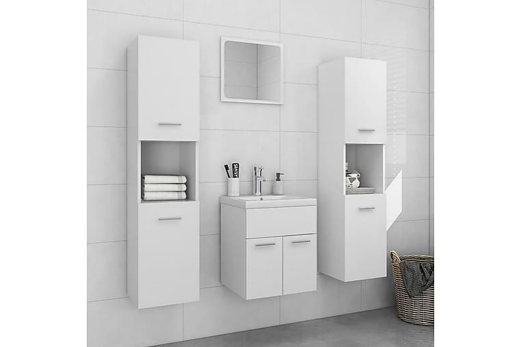 Baderomsmøbelsett hvit sponplate - Hvit - Baderom - Baderomsmøbler - Komplette møbelpakker