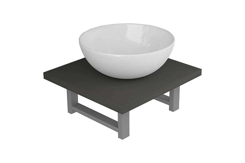Baderomsmøbler 2 deler keramikk grå - Baderom - Baderomsmøbler - Komplette møbelpakker
