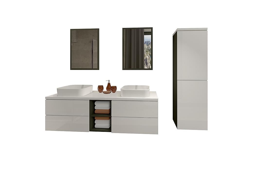Trufin Baderomsett - Hvit - Baderom - Baderomsmøbler - Komplette møbelpakker