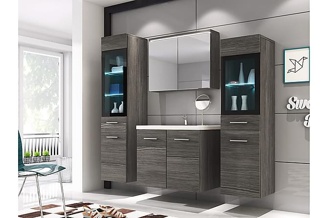 Udine Baderomsett - Grå / Hvit - Baderom - Baderomsmøbler - Komplette møbelpakker