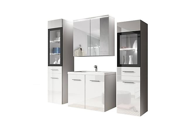 Udine Baderomsett - Hvit - Baderom - Baderomsmøbler - Komplette møbelpakker