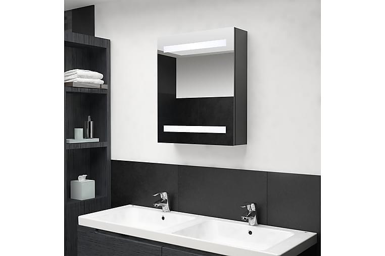 LED-speilskap til bad grå 50x14x60 cm - Grå - Baderom - Baderomsmøbler - Speilskap