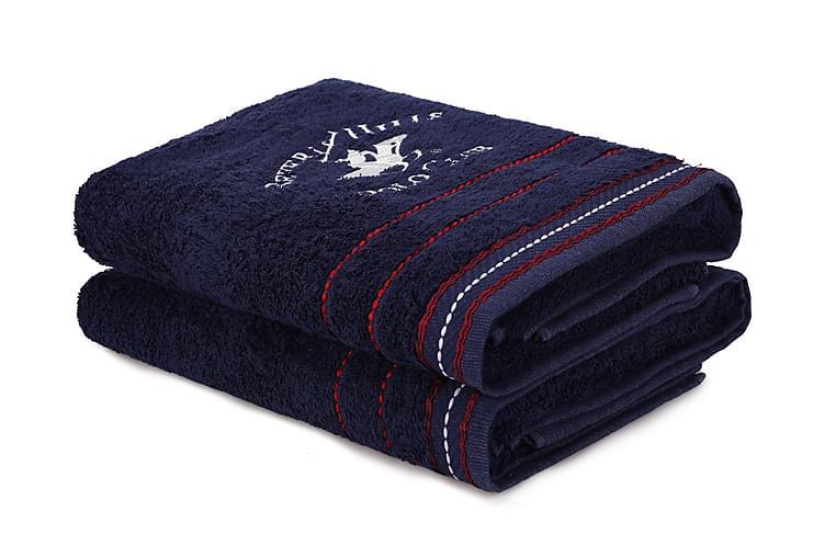 Tarilonte Badehåndkle 2-pk - Blå - Innredning - Tekstiler - Baderomstekstiler