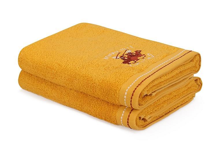 Tarilonte Badehåndkle 2-pk - Gul - Innredning - Tekstiler - Baderomstekstiler