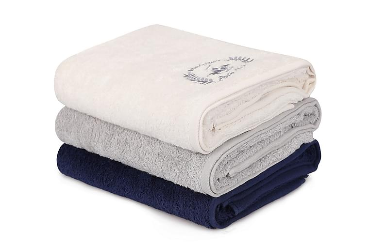 Tarilonte Badehåndkle 3-pk - Hvit/Grå/Blå - Innredning - Tekstiler - Baderomstekstiler