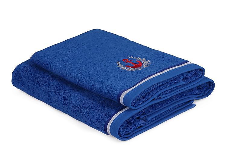 Ashburton Håndkle 2-pk - Blå - Innredning - Tekstiler - Baderomstekstiler