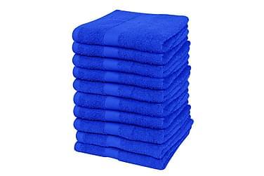 Gjestehåndklesett 10 stk bomull 500 gsm 30x50 cm kongeblå