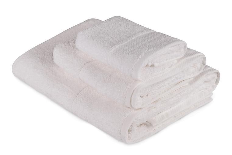 Hobby Håndkle Sett med 3 - Hvit - Baderom - Tekstiler baderom - Håndklær