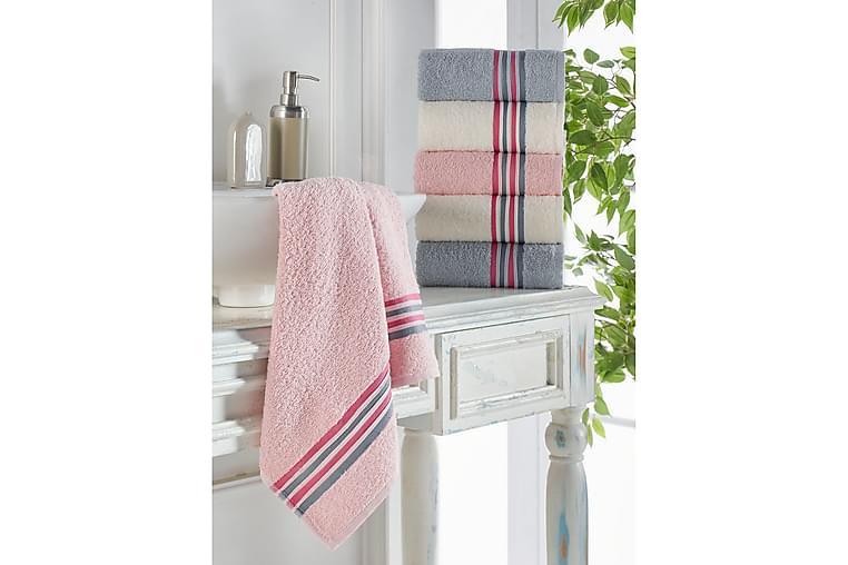 Lympne Håndkle 6-pk - Grå/Rosa/Hvit - Innredning - Tekstiler - Baderomstekstiler