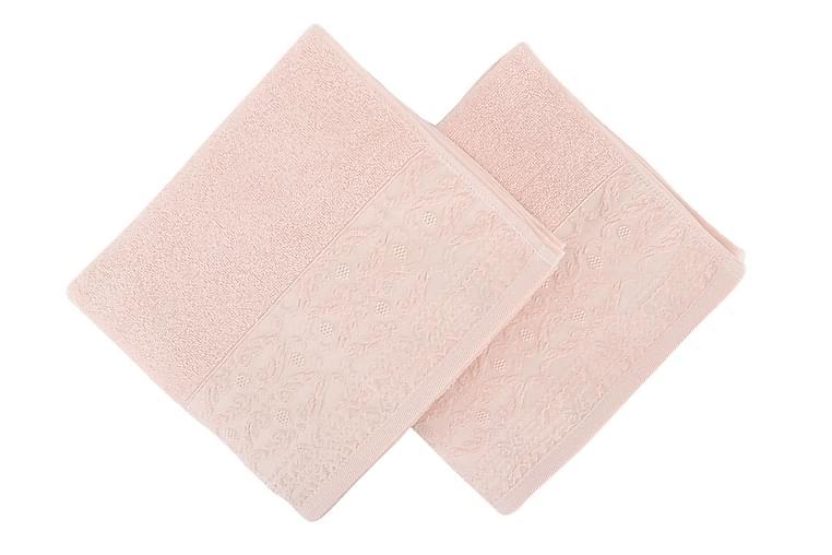 Soft Kiss Håndkle 50x90 cm 2-pk - Rosa - Innredning - Tekstiler - Baderomstekstiler