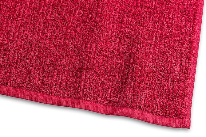 Stripe Frotté 30x50 cm Rød - Borganäs - Baderom - Baderomstekstiler - Håndklær