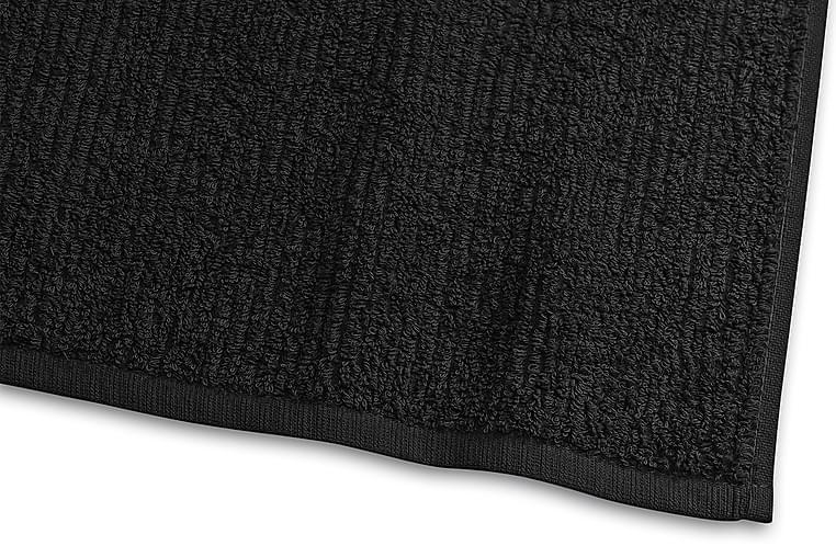 Stripe Frotté 30x50 cm Svart - Borganäs - Innredning - Tekstiler - Baderomstekstiler