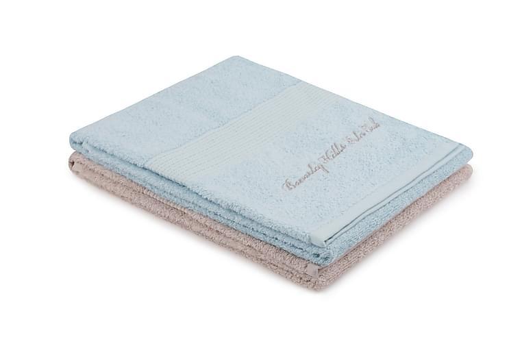 Tarilonte Håndkle 2-pk - Blå/Beige - Innredning - Tekstiler - Baderomstekstiler