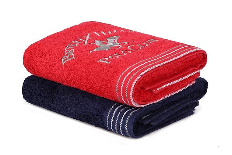 Tarilonte Håndkle 2-pk - Blå/Rød - Innredning - Tekstiler - Baderomstekstiler
