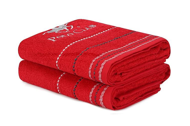 Tarilonte Håndkle 2-pk - Rød - Innredning - Tekstiler - Baderomstekstiler