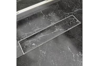 Dusjavløp lineært 530x140 mm rustfritt stål