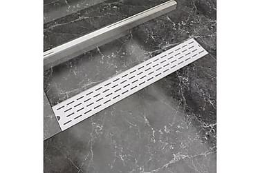 Dusjavløp lineært 730x140 mm rustfritt stål