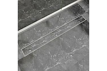 Lineær Dusjavløp 1030x140 mm Rustfritt stål