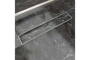 Lineær Dusjavløp 630x140 mm Rustfritt stål