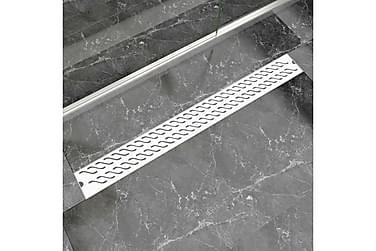 Lineær Dusjavløp Bølge 1030x140 mm Rustfritt stål