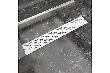Lineær Dusjavløp Bølge 730x140 mm Rustfritt stål