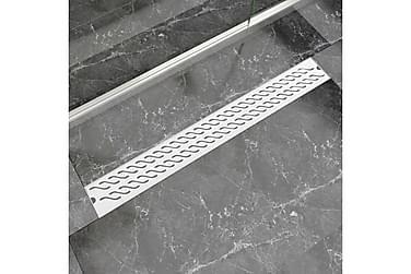 Lineær Dusjavløp Bølge 930x140 mm Rustfritt stål