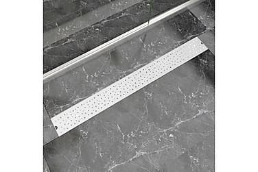 Lineær Dusjavløp Boble 1030x140 mm Rustfritt stål