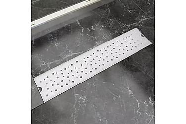 Lineær Dusjavløp Boble 530x140 mm Rustfritt stål