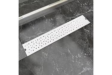 Lineær Dusjavløp Boble 630x140 mm Rustfritt stål
