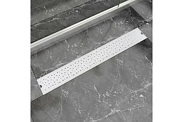 Lineær Dusjavløp Boble 830x140 mm Rustfritt stål