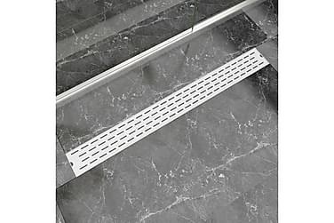 Lineær Dusjavløp Linje 1030x140 mm Rustfritt stål