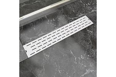 Lineær Dusjavløp Linje 630x140 mm Rustfritt stål