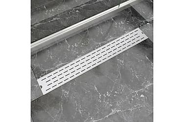 Lineær Dusjavløp Linje 830x140 mm Rustfritt stål