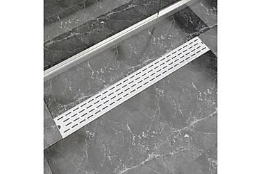 Lineær Dusjavløp Linje 930x140 mm Rustfritt stål