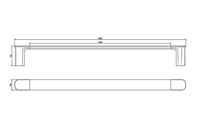 Liberty Enkel Håndklestang - 60cm - Baderom - Baderomstilbehør - Håndkleshenger & hånddukstang