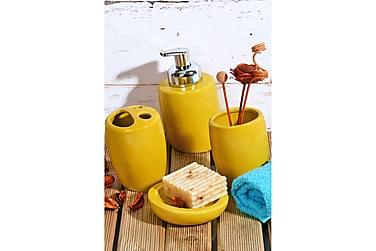 Kosova Baderomstilbehør Sett med 4 Keramikk