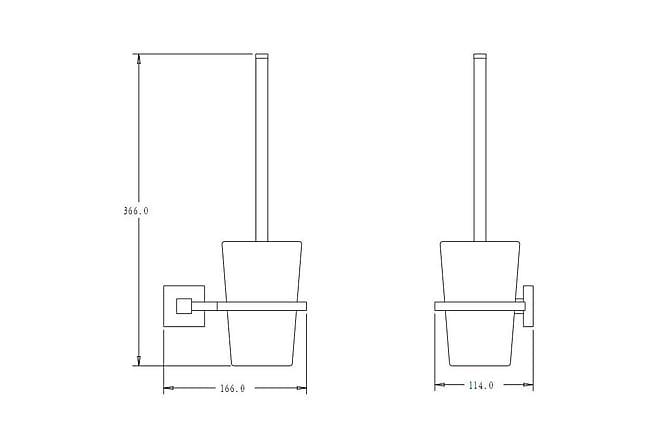 Aston Square Toalettbørsteholder Svart Matt - Baderom - Baderomstilbehør - Toalettbørste