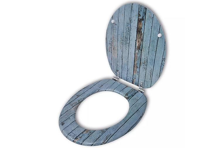 Toalettsete med MDF Lokk Gammelt Treverk Design - Baderom - Baderomstilbehør - Toalettseter