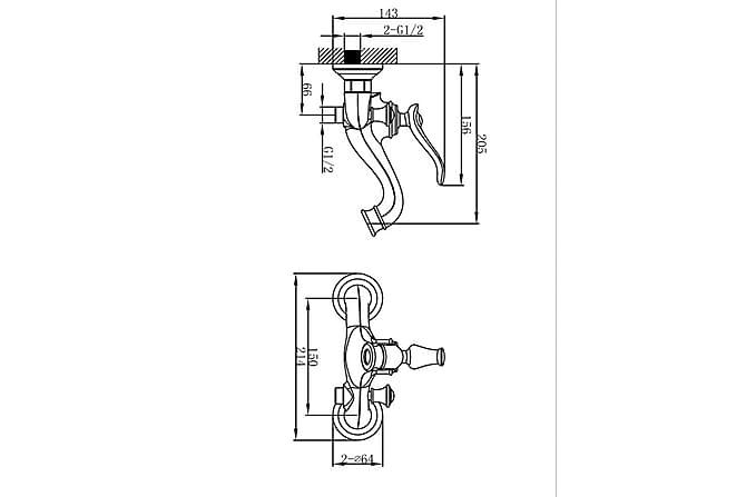 Crespin Badekarblandebatteri Bronse - Baderom - Blandebatteri & kran - Badekar blandebatteri