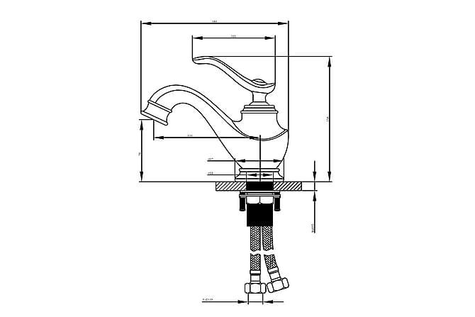 Crespin Servantblandebatteri Bronse - Baderom - Blandebatteri & kran - Badekar blandebatteri