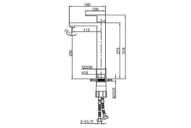 Nixon Servantblandebatteri - Matt Svart - Baderom - Blandebatteri & kran - Badekar blandebatteri