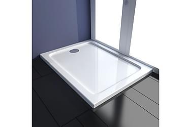 ABS-dusjbunn rektangulær 80 x 100 cm