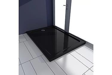 Rektandulært ABS Dusjkar Svart 70 x 100 cm