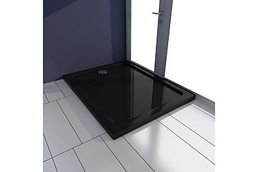 Rektangulær ABS dusjplate/bunn 70 x 90 cm svart